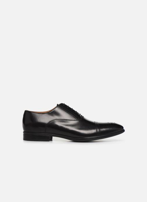 Lace-up shoes Doucal's OXFORD CAP TOE Black back view