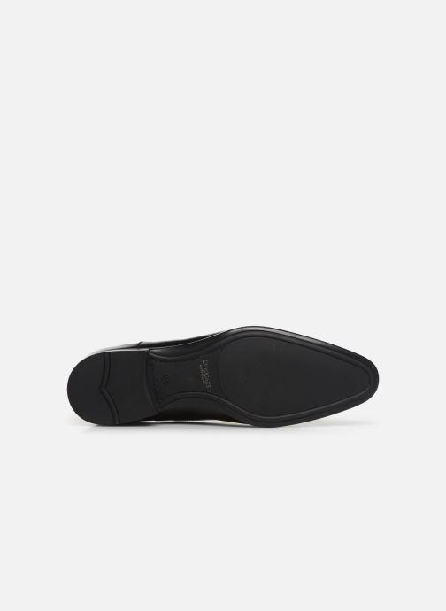 Chaussures à lacets Doucal's OXFORD CAP TOE Noir vue haut