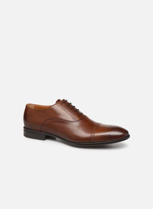 Zapatos con cordones Doucal's OXFORD CAP TOE Marrón vista de detalle / par