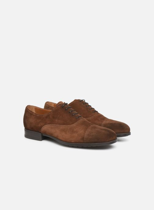 Chaussures à lacets Doucal's OXFORD CAP TOE Marron vue 3/4