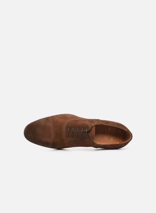 Lace-up shoes Doucal's OXFORD CAP TOE Brown view from the left