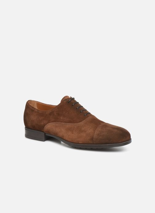 Lace-up shoes Doucal's OXFORD CAP TOE Brown detailed view/ Pair view