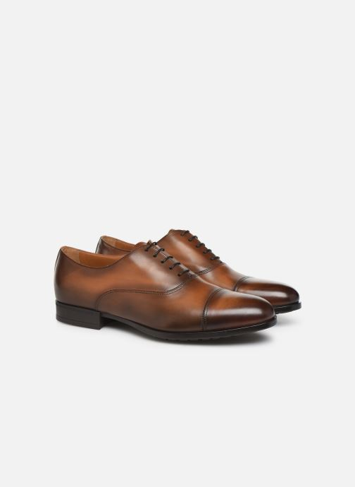 Lace-up shoes Doucal's OXFORD CAP TOE Brown 3/4 view