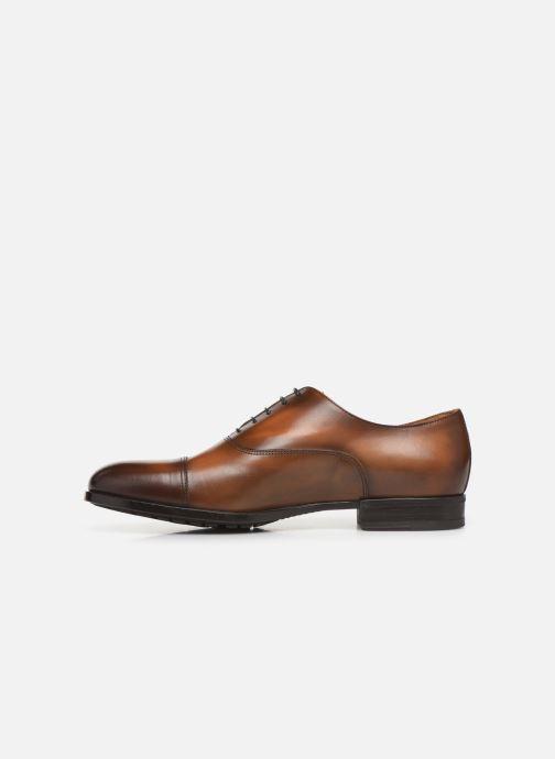 Chaussures à lacets Doucal's OXFORD CAP TOE Marron vue face
