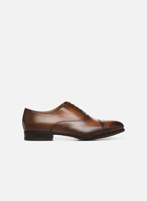 Lace-up shoes Doucal's OXFORD CAP TOE Brown back view