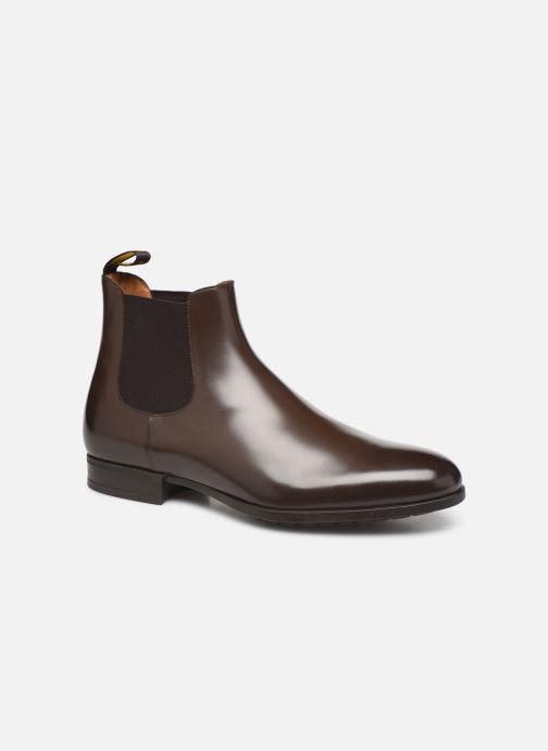 Ankelstøvler Doucal's CHELSEA BOOT Brun detaljeret billede af skoene