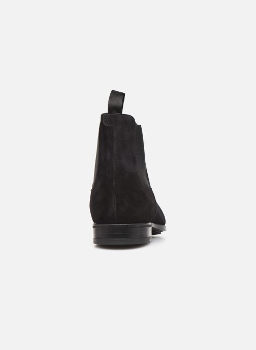 Ankle boots Doucal's CHELSEA BOOT Black view from the right