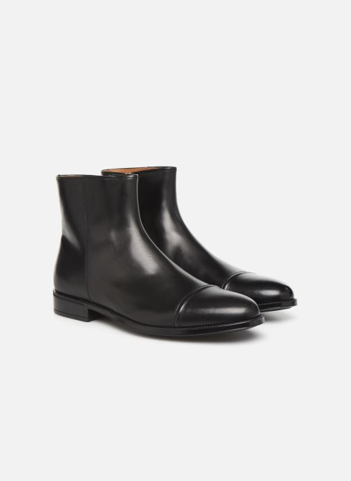 Bottines et boots Doucal's ZIP BOOT PUNTINA Noir vue 3/4