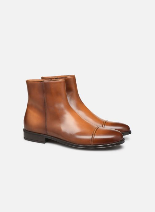 Ankle boots Doucal's ZIP BOOT PUNTINA Brown 3/4 view
