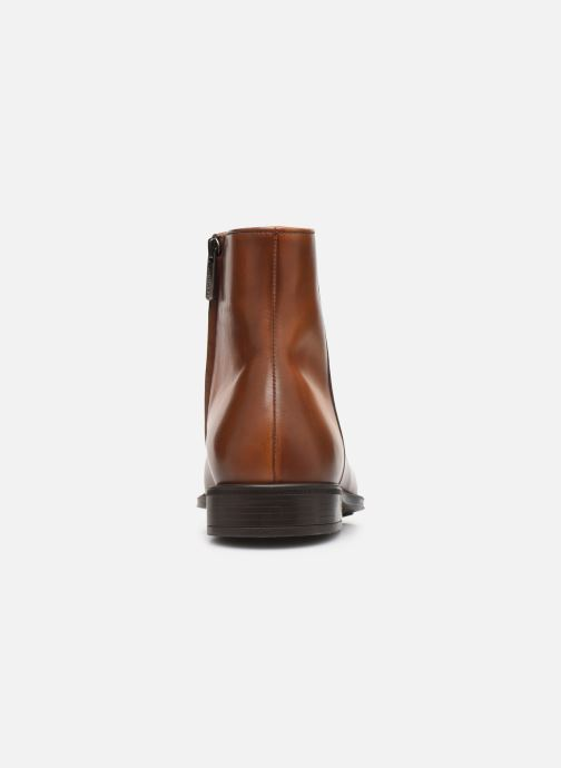 Ankle boots Doucal's ZIP BOOT PUNTINA Brown view from the right