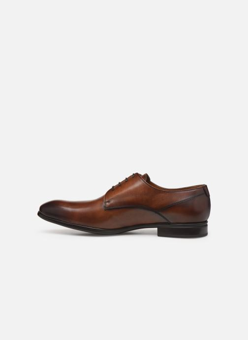 Lace-up shoes Doucal's DERBY Brown front view