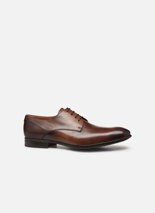 Lace-up shoes Doucal's DERBY Brown back view
