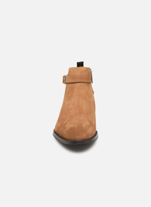 Stivaletti e tronchetti Doucal's HALF BOOT CAP TOE Marrone modello indossato