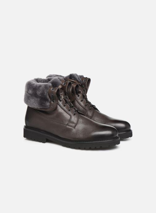 Bottines et boots Doucal's DERBY BOOT Noir vue 3/4