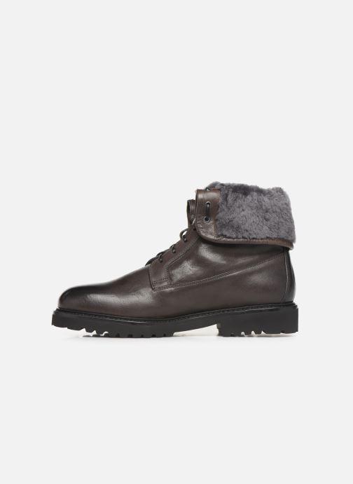 Stiefeletten & Boots Doucal's DERBY BOOT schwarz ansicht von vorne