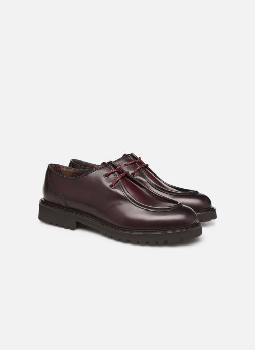 Lace-up shoes Doucal's SCARPA BORDATA Burgundy 3/4 view