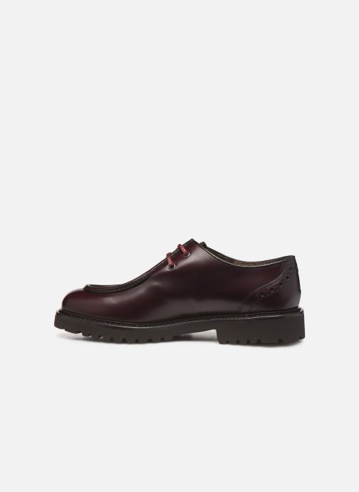 Lace-up shoes Doucal's SCARPA BORDATA Burgundy front view
