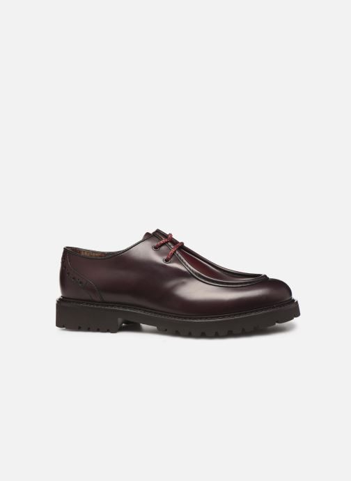 Lace-up shoes Doucal's SCARPA BORDATA Burgundy back view
