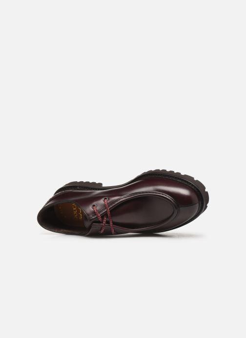 Lace-up shoes Doucal's SCARPA BORDATA Burgundy view from the left