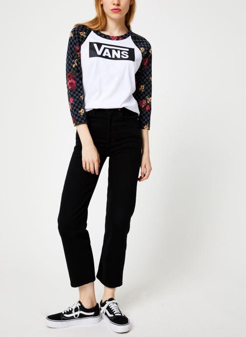 Vêtements Vans Botanical Tangle Blanc vue bas / vue portée sac
