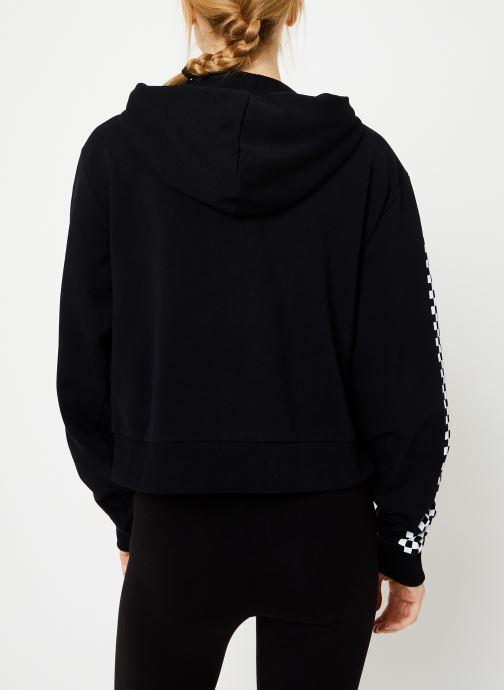 Vêtements Vans Funnier Times Crop Zip Hoodie Noir vue portées chaussures