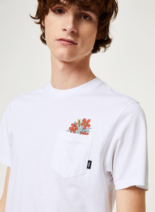 Vêtements Vans Til Death Pocket Tee Blanc vue face