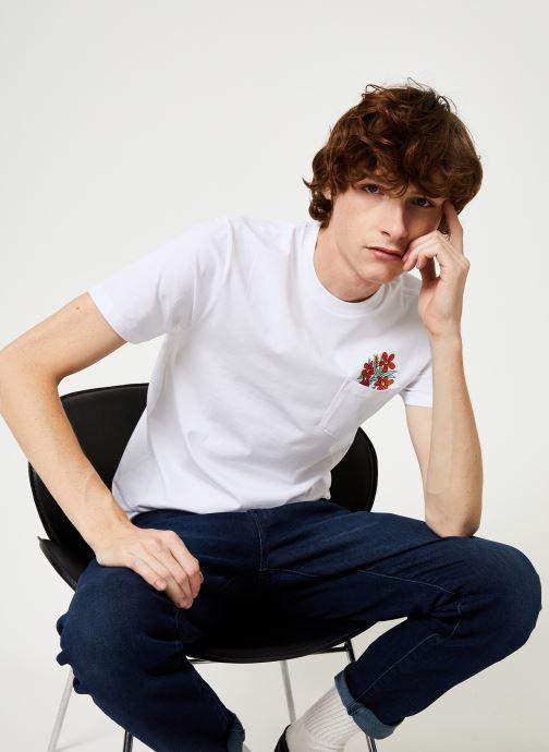 Vêtements Vans Til Death Pocket Tee Blanc vue droite