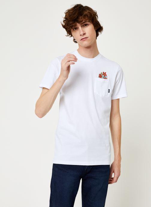 Vêtements Vans Til Death Pocket Tee Blanc vue détail/paire
