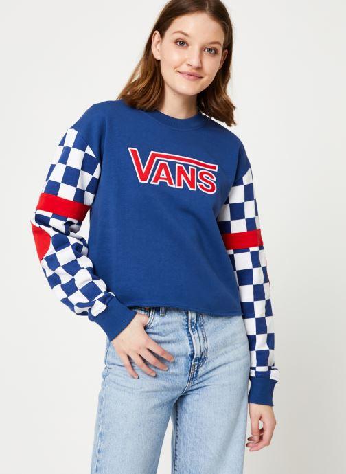 Vêtements Vans BMX Crew Fleece Bleu vue droite
