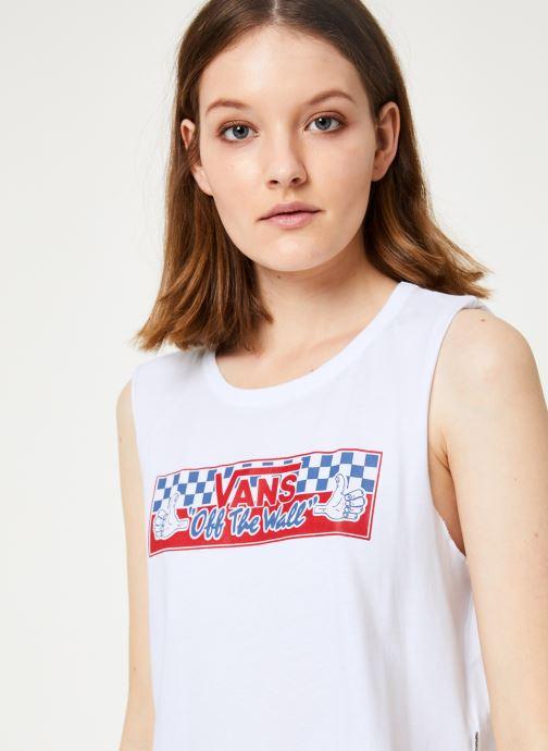 Vêtements Vans BMX Muscle Tank Blanc vue face