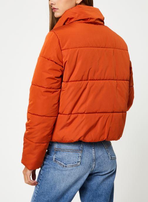 Vêtements Vans Foundry Puffer Jacket Orange vue portées chaussures