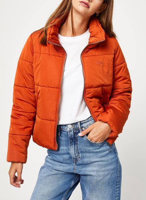 Vêtements Vans Foundry Puffer Jacket Orange vue droite