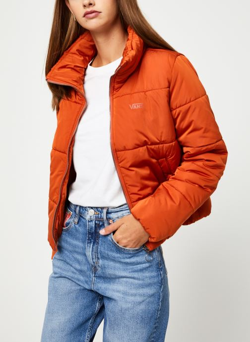 Vêtements Vans Foundry Puffer Jacket Orange vue détail/paire