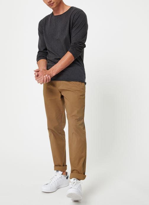 Vêtements Selected Homme Slhdome Knit Gris vue bas / vue portée sac