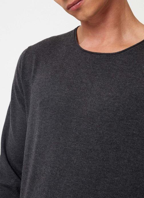 Vêtements Selected Homme Slhdome Knit Gris vue face