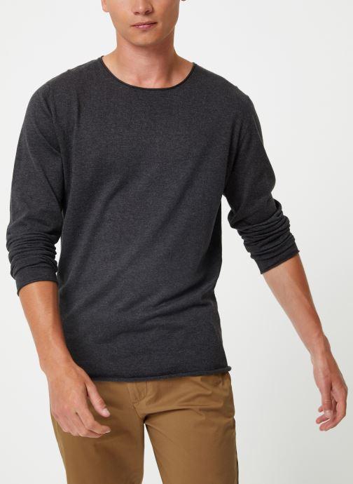 Vêtements Selected Homme Slhdome Knit Gris vue droite