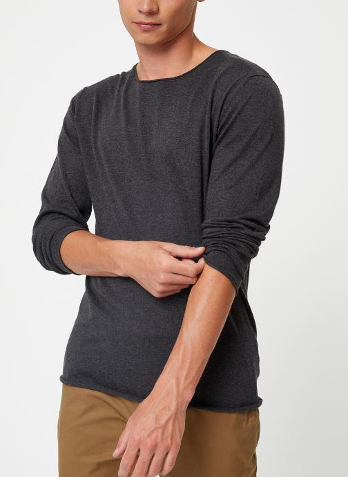 Vêtements Selected Homme Slhdome Knit Gris vue détail/paire
