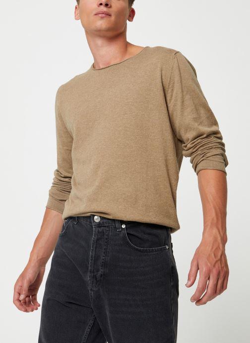 Vêtements Selected Homme Slhdome Knit Vert vue droite