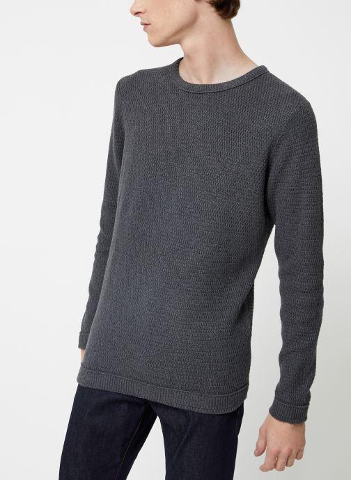 Vêtements Selected Homme Slhvictor Knit Gris vue droite