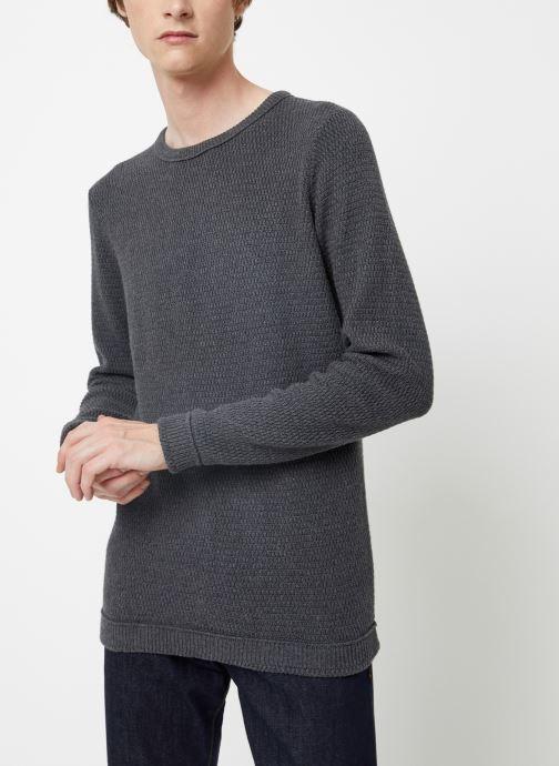 Vêtements Selected Homme Slhvictor Knit Gris vue détail/paire