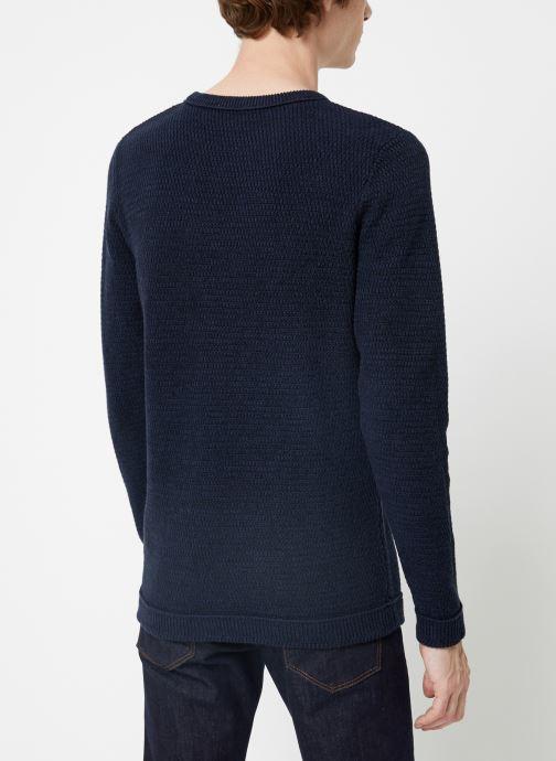 Vêtements Selected Homme Slhvictor Knit Bleu vue portées chaussures