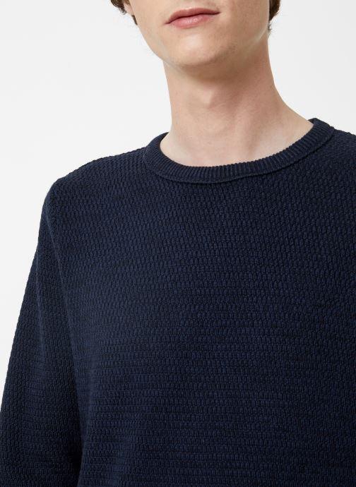 Vêtements Selected Homme Slhvictor Knit Bleu vue face