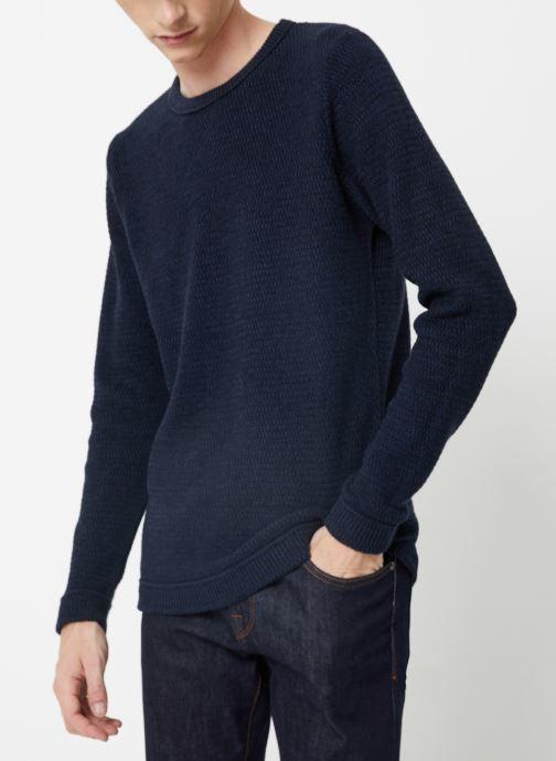 Vêtements Selected Homme Slhvictor Knit Bleu vue droite