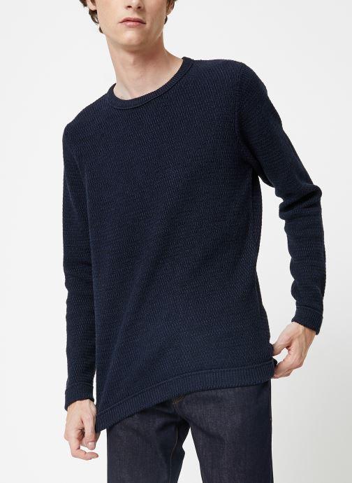 Vêtements Selected Homme Slhvictor Knit Bleu vue détail/paire