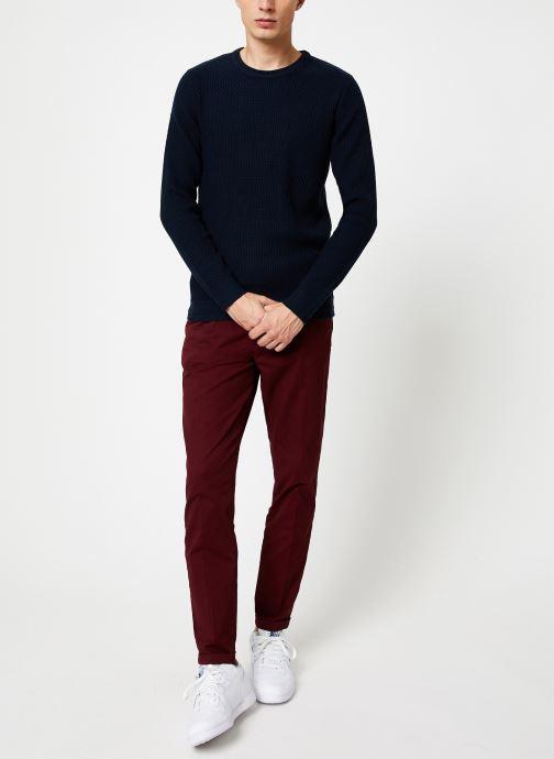 Vêtements Selected Homme Slholiver Knit Bleu vue bas / vue portée sac