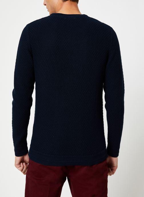 Vêtements Selected Homme Slholiver Knit Bleu vue portées chaussures