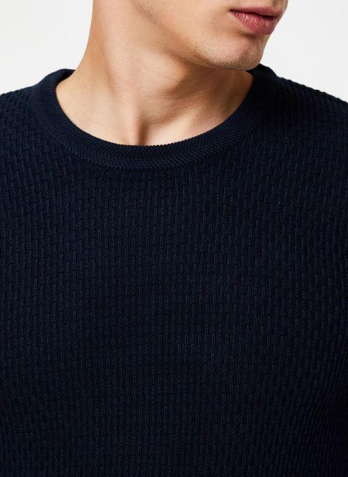 Vêtements Selected Homme Slholiver Knit Bleu vue face
