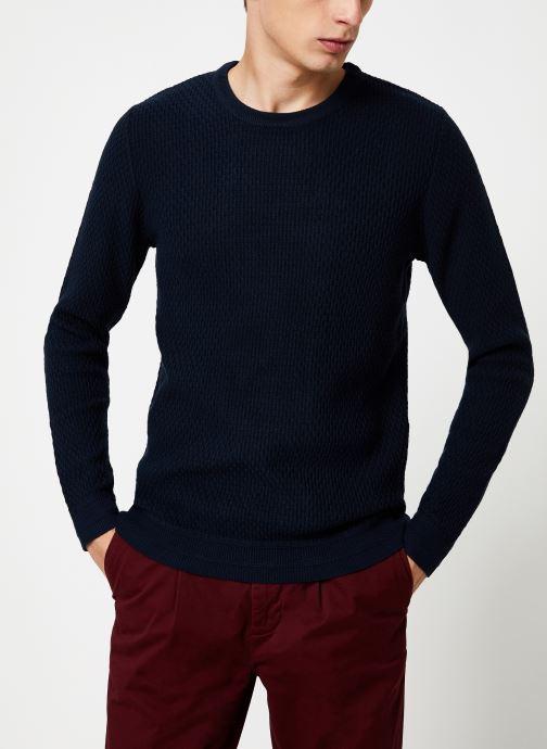 Vêtements Selected Homme Slholiver Knit Bleu vue droite