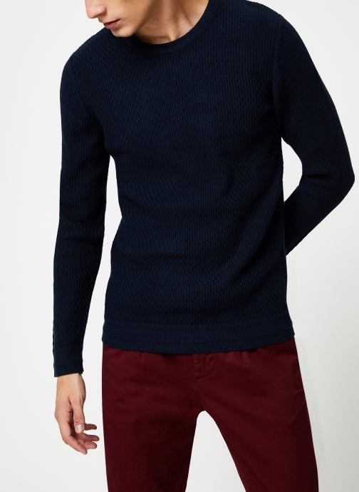 Vêtements Selected Homme Slholiver Knit Bleu vue détail/paire