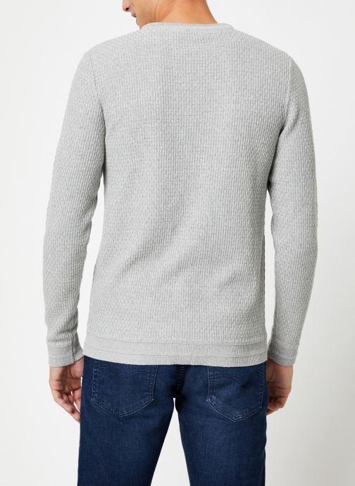 Vêtements Selected Homme Slholiver Knit Gris vue portées chaussures